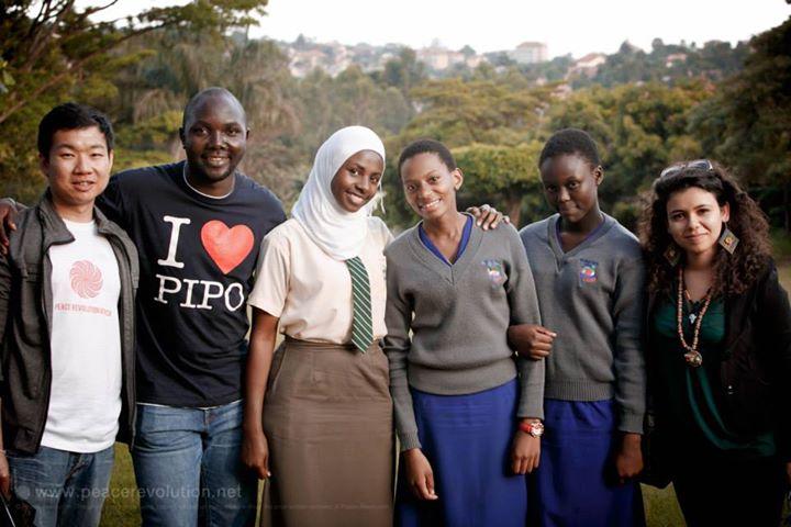 Peace Revolution PIPO organizer team in Kampala, Uganda