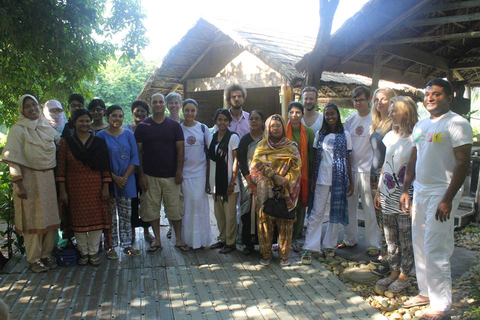 Participants of Peace Revolution Meditation Retreat in Cox's Bazar