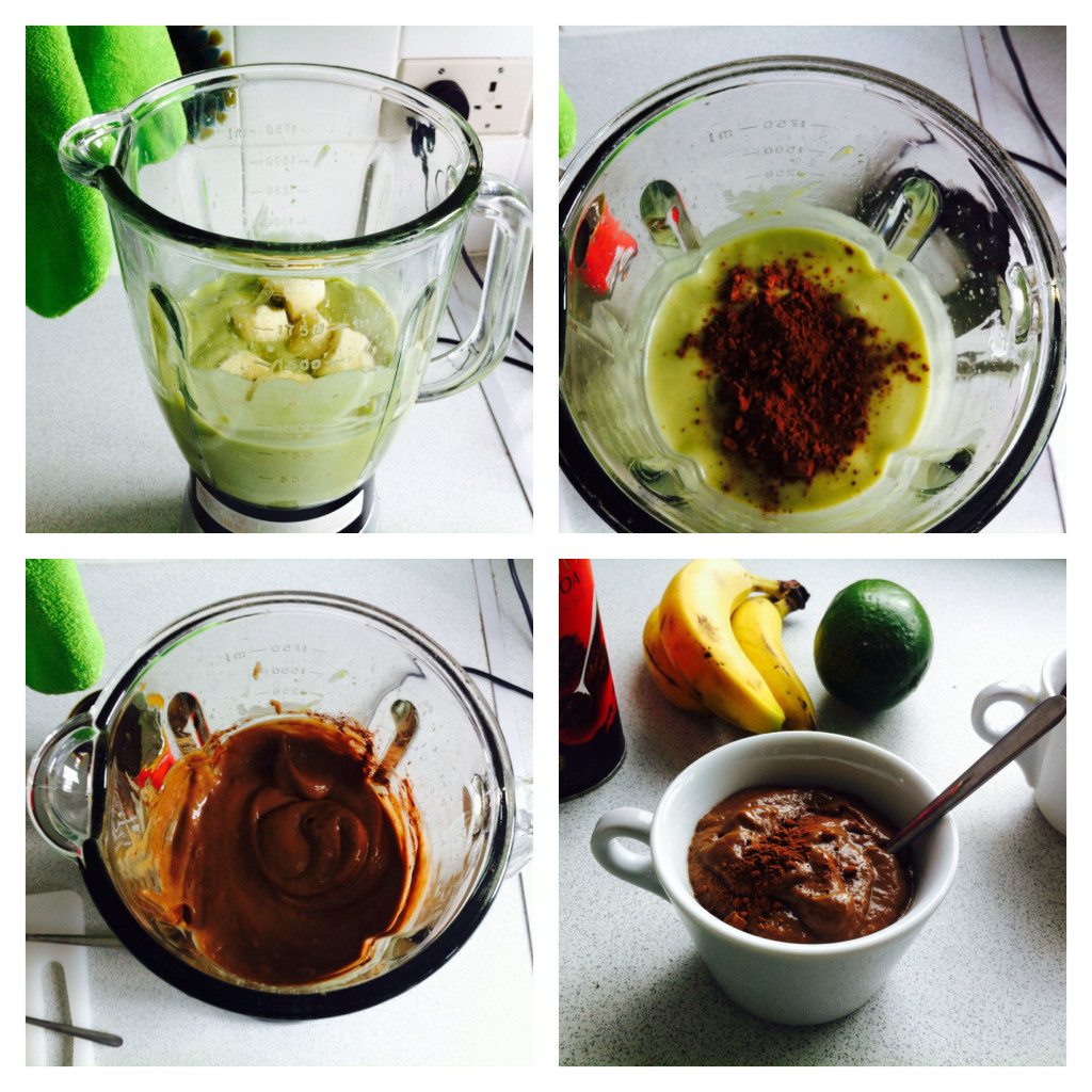 "Steps for preparing vegan ""mousse au chocolat"""