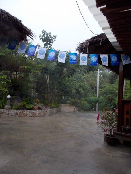 Rainy day in Mooktawan Sanctuary during the Peace Revolution International Youth Fellowship
