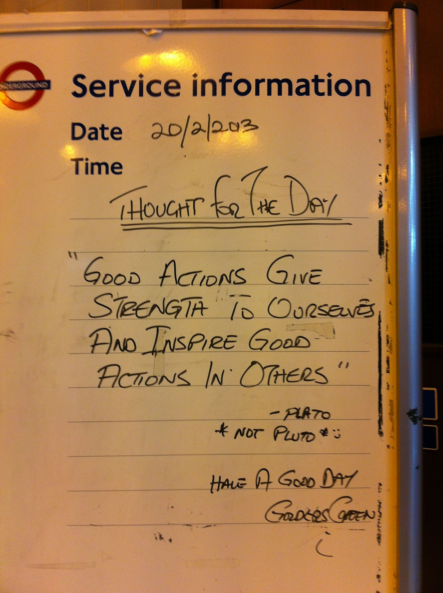 London Tube Service Information Message