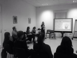 Manuela presenting Inner Peace