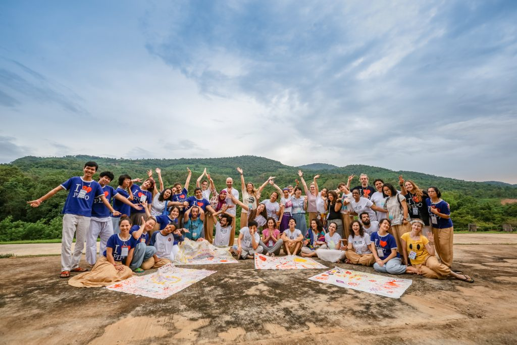 Participants and staff of Artistic Meditation Retreat 2016