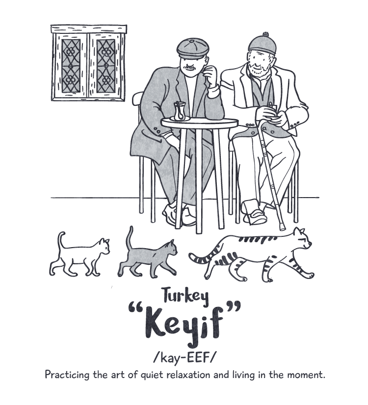 Happiness: 'keyif' Peace Revolution